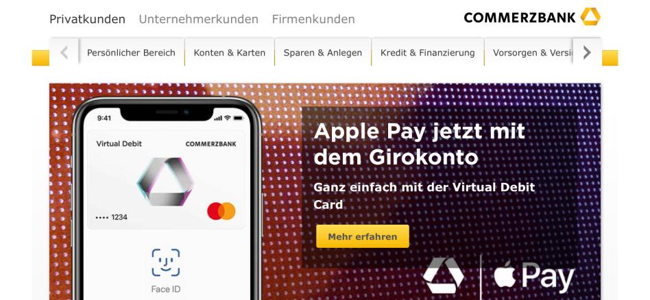 Commerzbank Virtual Debit Card - (C) Commerzbank AG